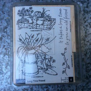Stampin Up Long Time Friend Rubber Stamp